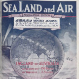 Sea, Land and Air magazine cover celebrating the first transmission in 1918.