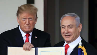 Benjamin Netanyahu and Donald Trump, pictured in March, maintain a close relationship.