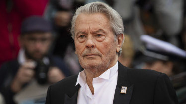 Alain Delon at the premiere of A Hidden Life in Cannes on Sunday.