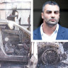 """The witness described seeing two men sitting in the Mercedes 15 minutes before ex-Comancheros boss Mahmoud """"Mick"""" Hawi was shot dead in his car."""