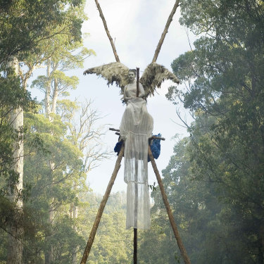 "Artist Allana Beltran protesting against the logging of an old-growth forest in southern Tasmania in 2007. ""I was ready to sacrifice myself to this cause,"" she said."