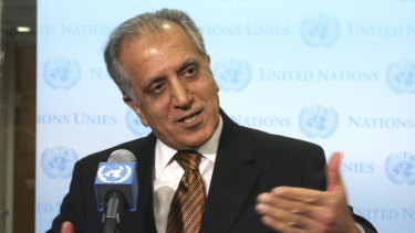 US envoy Zalmay Khalilzad, pictured in 2009, met Taliban leaders last month.