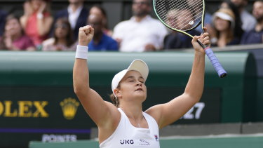 Ash Barty is into a Wimbledon final.