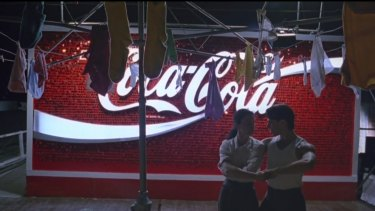 The L'amour-like Coca-Cola sign in Baz Luhrmann's 1992 film Strictly Ballroom.