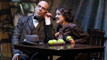 Adrian Tamburini and Taryn Fiebig in Opera Australia's Metamorphosis.