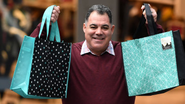 Rugby league legend Mal Meninga was the National Retail Association's plastic bag ban ambassador ahead of  Queensland going single-use shopping bag free on July 1.
