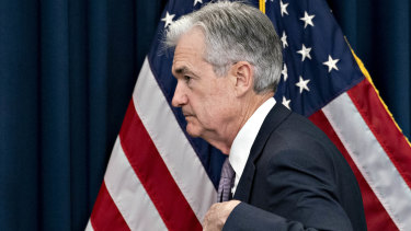 "US Federal Reserve chairman Jerome Powell. The Fed's response to the seizure in the US ""repo"" market last September that has driven sharemarkets to new heights."