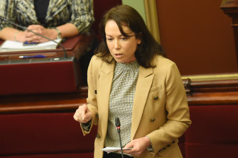 """Minister Jaclyn Symes described the opposition's attempts to compel Parliament to sit as a """"political stunt""""."""