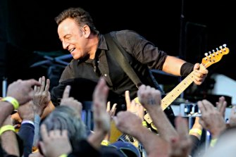 Bruce Springsteen takes his message to 17,000 fans at the Rock in 2013.