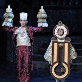 Pippin Carroll (Lumiere), left,  and Meaghan Stewart (Cogsworth) in <i>Beauty and the Beast</i>.