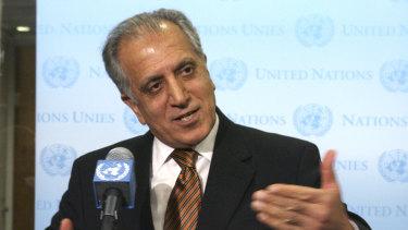 US envoy Zalmay Khalilzad, pictured in 2009, met Taliban leaders late last week.