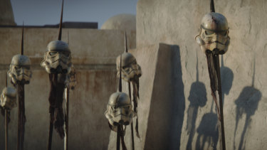 Scene from the streaming series The Mandalorian.