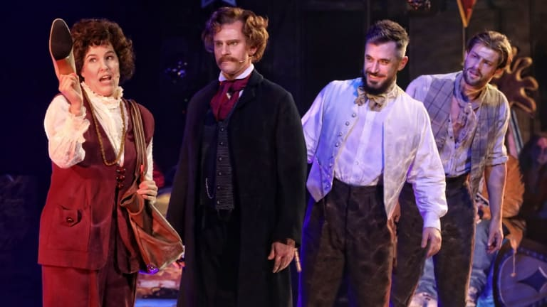 Bobby Fox, third from left, with Kate Cole, David Campbell and Jason Winston in Assassins.