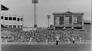 Australia v England at the 3rd Test played at the SCG in 1959.