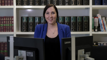 Chiara Silveri, a practice assistant at Allens law firm in Melbourne