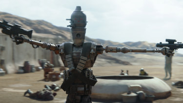 The droid IG-11 (Taika Waititi) in The Mandalorian.