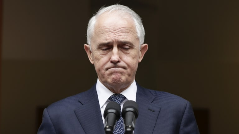 Prime Minister Malcolm Turnbull addresses the media on leadership.