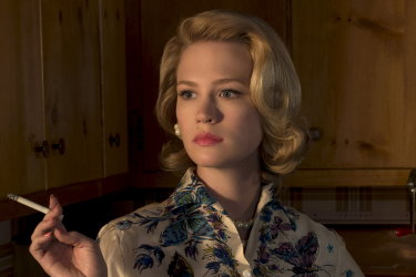 January Jones as Betty Draper, would never have harboured this kind of guilt, in Mad Men.