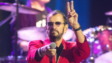Ringo Starr, formerly of The Beatles, performs in concert with Ringo Starr and His All Starr Band at The Met in Philadelphia last month.