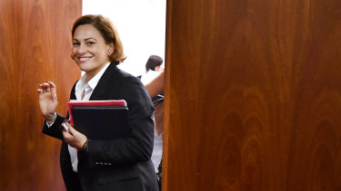 When asked if she would rule out lifting coal royalties, Treasurer Jackie Trad said she did not want to prejudice negotiations she was in with mining giants.