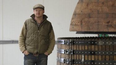 Dermot Sugrue, the winemaker at Wiston Estate near Worthing, England.