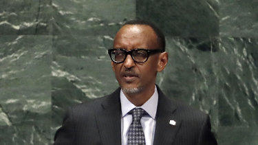 Rwanda's President Paul Kagame addresses the 73rd session of the United Nations General Assembly last week.