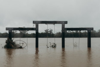 Flood waters have submerged parts of NSW.