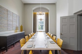 One of the opulent private dining rooms at Post, in the State Buildings.