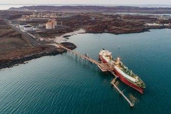 Woodside Petroleum's Pluto LNG plant in Western Australia.