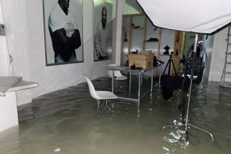 Mr Harsent's studio was completely flooded within 20 minutes.