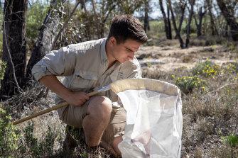 Museums Victoria taxonomist Joseph Schubert on a field trip.