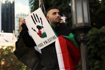 Pro-Palestine protestors gathered in the Sydney CBD to condemn the situation in Gaza.