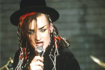 Comma conundrum: Boy George wonders how to sell a contradiction.