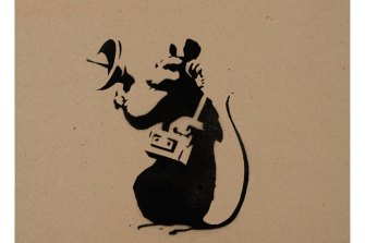 Banksy'sRadar Rat was one of the images in the court case.
