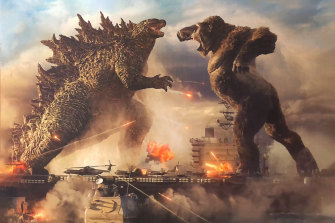 Godzilla vs Kong features plenty of city destruction.