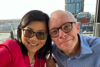 Australian economist Sean Turnell with wife Ha Vu.