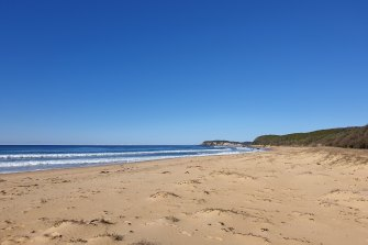 Gillards Beach is pictured on Thursday.