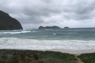 Ned's Beach on the north-east coast of Lord Howe Island on Thursday Morning.