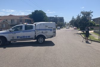 An armed man was shot by police during a confrontation on the Central Coast on Wednesday morning.