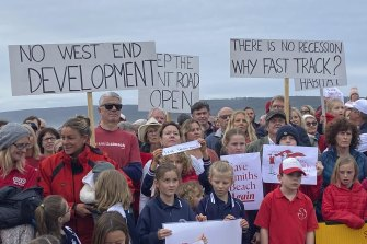 Yallingup residents protested a mooted design of a new development at the Smiths Beach headland.