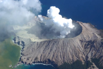 White Island after Monday's eruption.