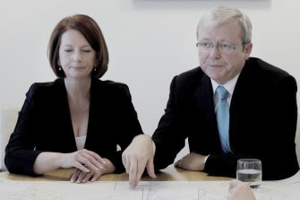 We went from Kevin Rudd to Julia Gillard and back to Rudd again.