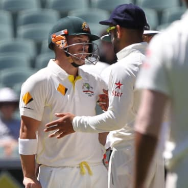 Fearless leader: Kohli in 2014, after taking over as captain, will be happy not to be facing David Warner.