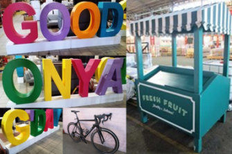 Signs, an elite racing cycle and a fruit and vegetable stand have already been snapped up.