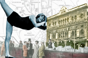Annette Kellerman and the Theatre Royal.