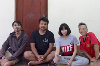 Members of the Faiyen protest band in Laos: Nithiwat Wannasiri, Worravut Thueakchaiyaphum, Romchalee Sombulrattanakul and Trairong Sinseubpol.