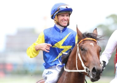 Everyone's second favourite: Glyn Schofield is all smiles about Le Romain