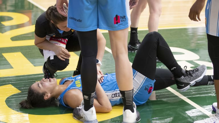 Kia Nurse sent an injury scare through the Capitals camp after landing awkwardly on her knee.