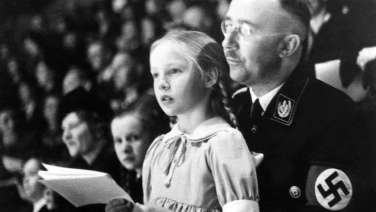 Chief of the German Police and Minister of the Interior Heinrich Himmler, with his daughter Gudrun in Berlin on March 6, 1938.