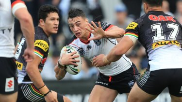 Former Warriors outside back Charnze Nicoll-Klokstad is in the mix for the Raiders No.1 jersey.